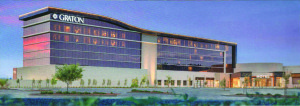 An artist's full view rendition of Graton Resort and Casino's hotel.