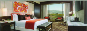 A peek at one of Graton's standard hotel rooms. Style and comfort awaits its guests.